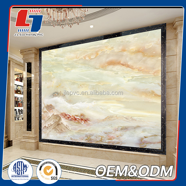 good price imitation marble foam core sheet decorative pvc interior decorative wall panels