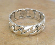 THICK MENS STERLING SILVER CHAIN LINK BAND RING /new brand ring /fashion ring