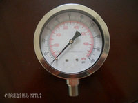 100mm bottom stainless steel pressure gauge