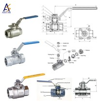 stainless steel Material and gas,and saturated steam,oil,Water Media Brass Ball Valve
