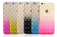 Phone cover for iPhone 7 plus rainbow case / cheap wholesale back cover for iPhone 7 plus gradient ramp case