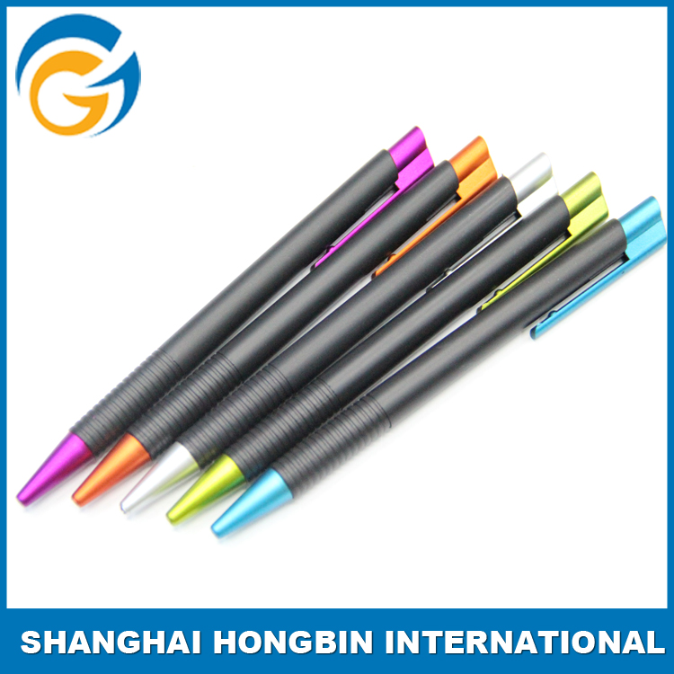 Black Barrel Colorful Lead Promotional Oem Pen