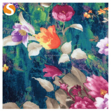 Top selling Print Scuba fabric Floral pattern Oil Style