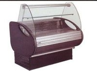 Curved glass meat display Refrigeration Equipment