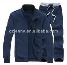 Custom Bulk Men Sport POLO Cotton Suits Fleece Terry Fitted Sweatshirt Jacket Sweat Pants Tracksuit Slim Fit