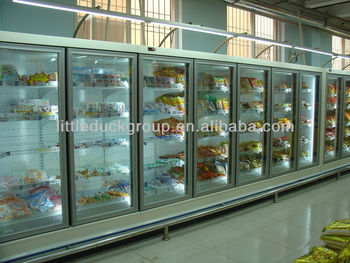 Vertical glass door freezer with five doors - E7 Atlanta