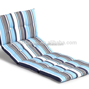 Waterproof Beach Sunlounger Polyester Patio Furniture Lounge Chair Cushion