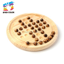 Wholesale new fashion wooden chess set travel solitaire game for toddlers W11A076