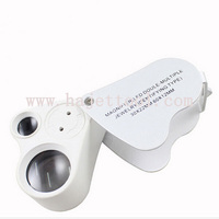 LED Double Multiple Jeweler Eye Loupe Magnifier Gem LED Magnifying Glass Jewelry Identifying Type Magnifier