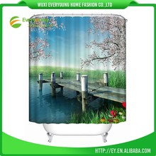 Fashion China 2016 New Design Shell Printed Bath Shower Curtain