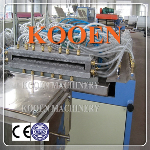 KOOEN full automiatic opreation making rigid pvc decorating board production line