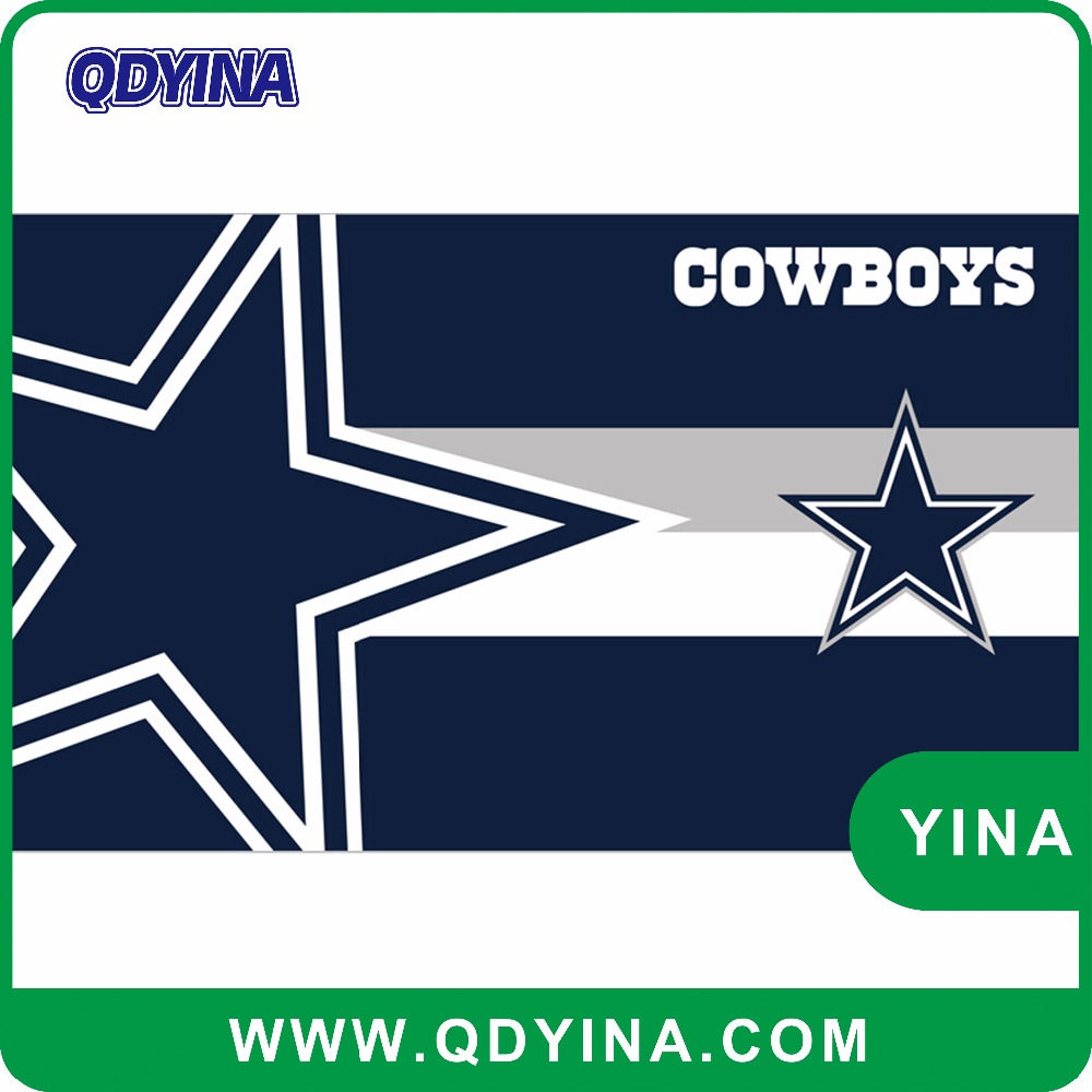 3x5 ft digital printing Dallas Cowboys with stars flag metal grommets