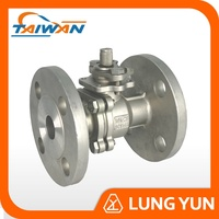 Casting flanged end class 150 ansi 6 inch ball valve double for gas