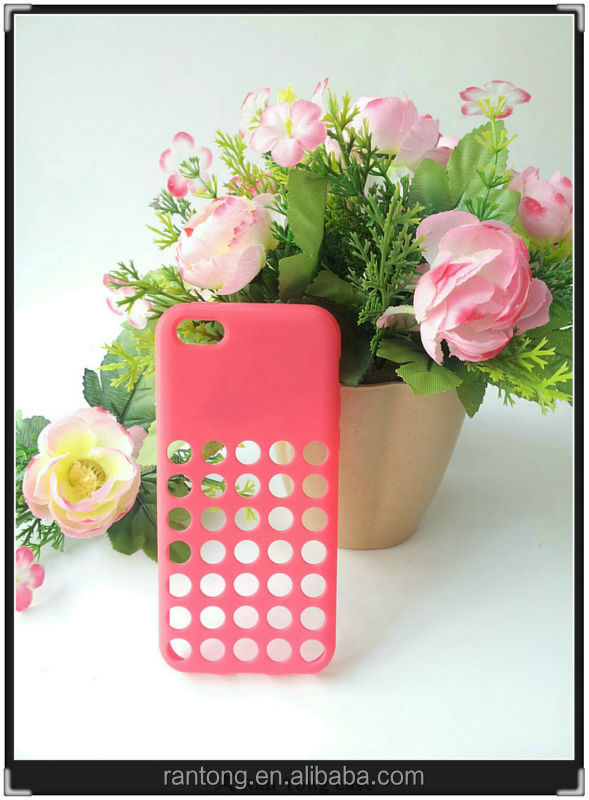 Stylish Perforated Ventilated TPU Case for iPhone 5 C, case fit for iphone 5c