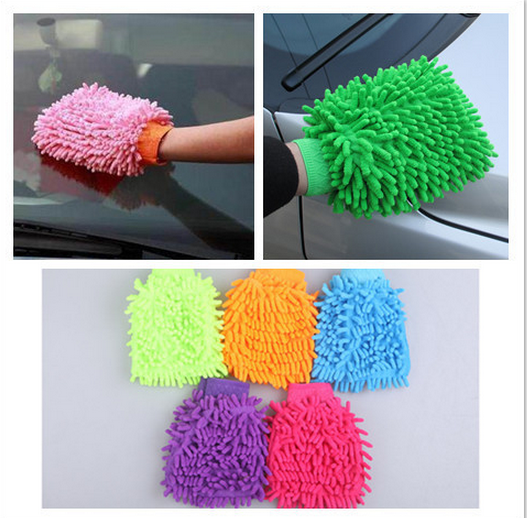 Double Sided 40 g Mitt Microfiber Car Wash Washing, Car Dust Washing Cleaning Glove