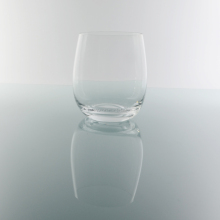 High white crystal material elegant stemless wine glass cup for drinking