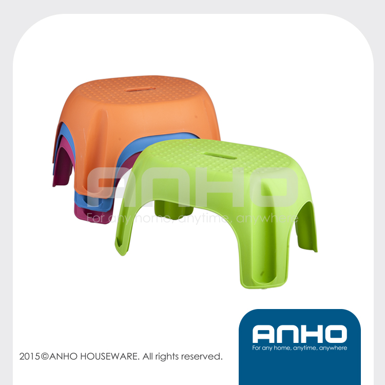 Ottoman plastic colorful bathroom stool