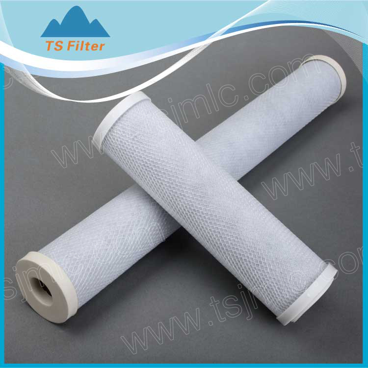 industrial 5 micron Activated Carbon Block Filter Cartridge for beer / wine purification