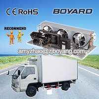small short reefer cargo van with r404a mini compressor type condensator unit 1 hp