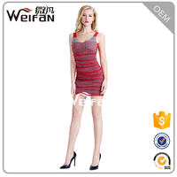 New Fashion Clothing Short Tight Worsted Techinics Bandage Red Women Dresses Sex First Night Dress