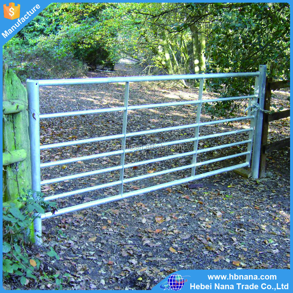 China factory supply Euro market hot dipped galvanized farm gate/ steel field gate