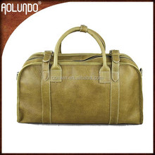 Unisex full leather fashion genuine leather duffle bag
