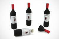 wine bottle shaped usb memory stick