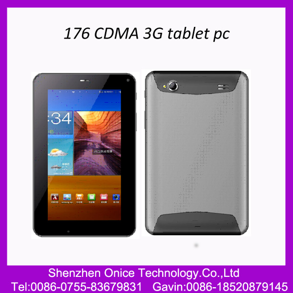 7inch 1024*600pixel CDMA EVDO 800Mhz 176 cdma tablet pc Qualcomm dual core 512MB Ram 4GB Rom GPS,Bluetooth evdo tablet pc