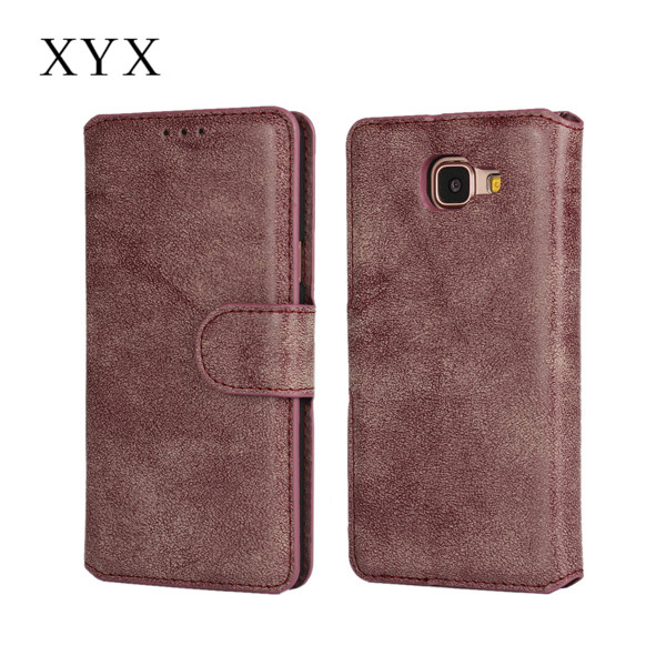 Vintage style frosted leather surface with card slots book leather case for Samsung galaxy note 7