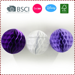 Wholesale 3 PCS Mix Color 28 g Tissue Paper Honeycomb Balls Kits Decorations for Wedding Showers Party