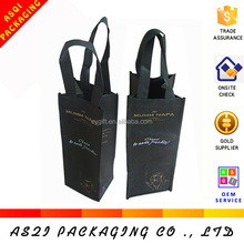 custom non woven single bottle wine bag wine box wine carrier