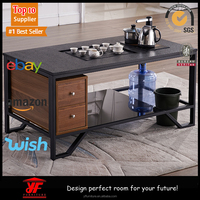 latest new design wooden standard size tea table design