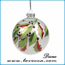 wholesale clear glass christmas ball ornaments , hollow glass ball for making jewelry , decorative glass balls for gardens