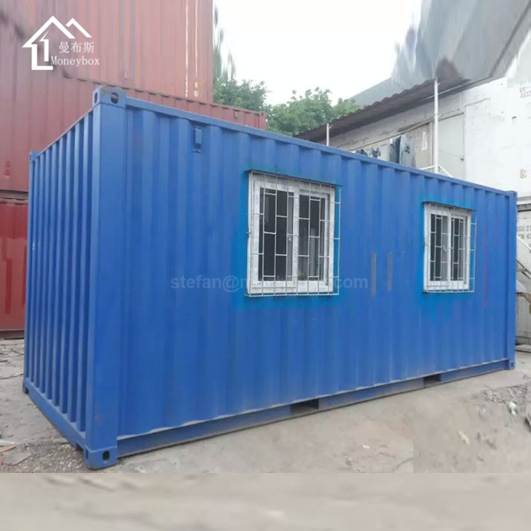 Cheap 20ft converted shipping container house building kits with solar power