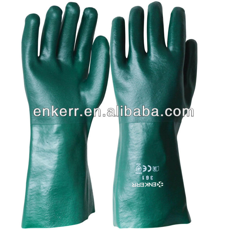 green pvc coated gloves,pvc coated cotton gloves