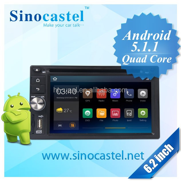 2 din 6.2 inch car dvd gps Android 5.1 with AM/FM/RDS