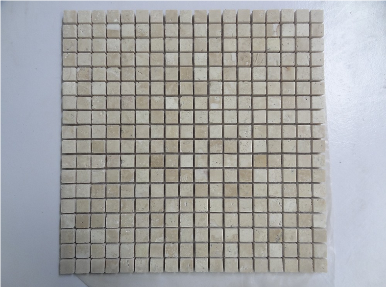 good quality beige travertine marble mosaic floor pattern