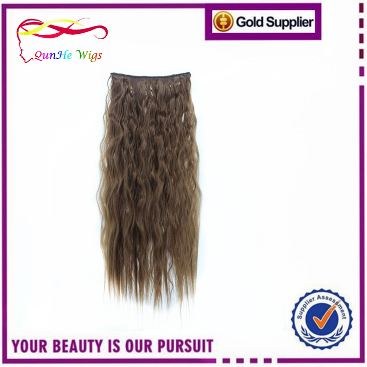 synthetic fake hair kinky curly weaving long curl clip in hair wigs for sexy girls