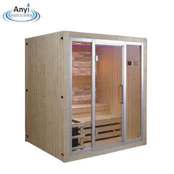 New design beautiful luxury dry infrared sauna white culture stone sauna room