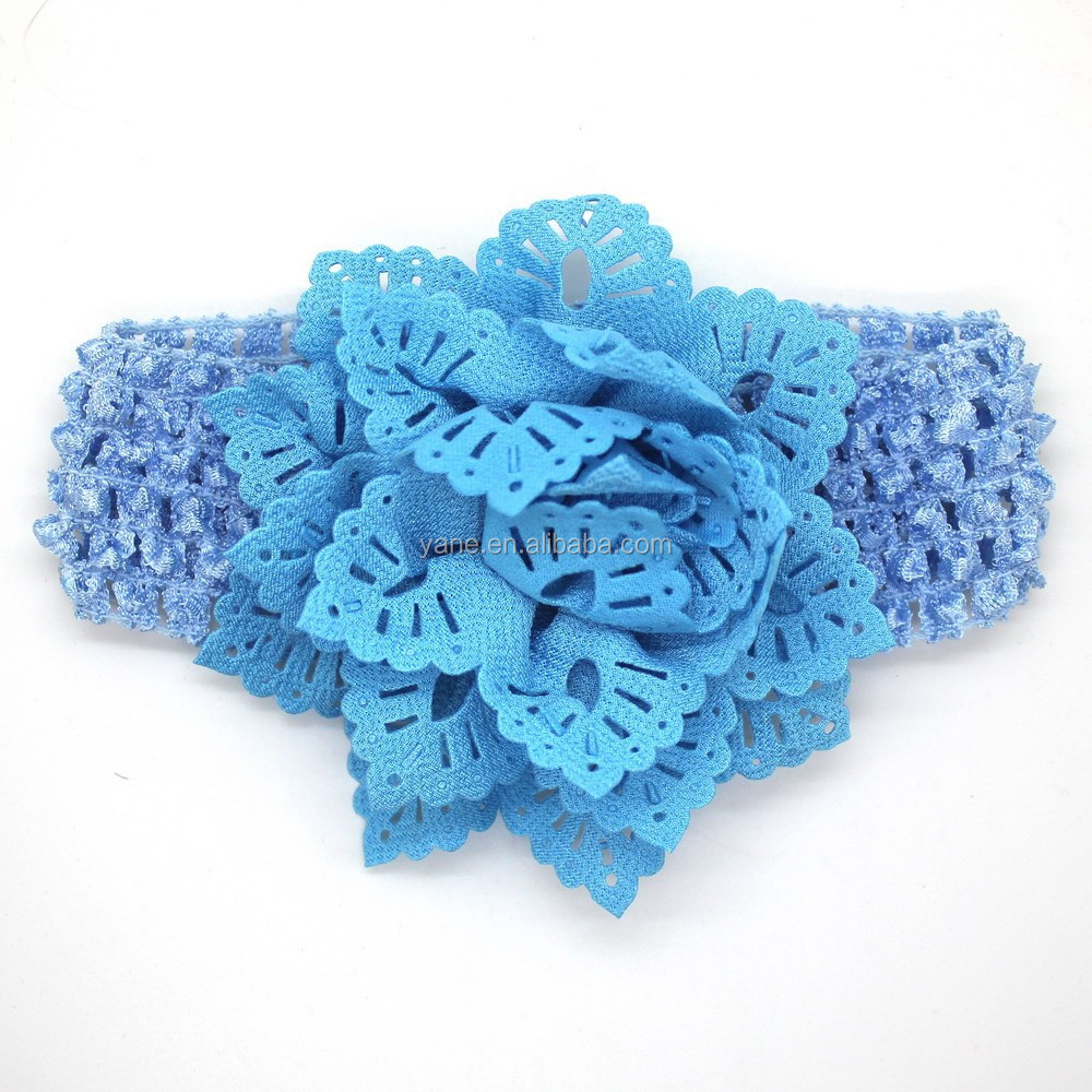 crochet headband with flower, head bows for babies