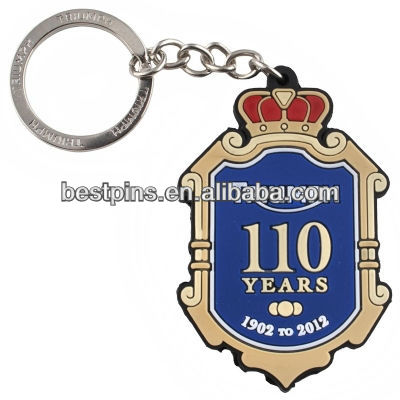 Triumph 110th aniversary badge keychain