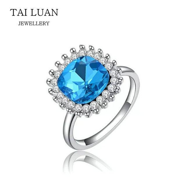 Wholesale fashion engagement sapphire ring for women