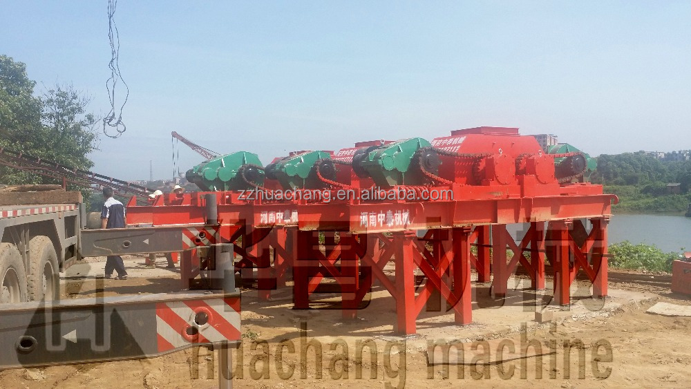 Furnace/steel slag/shale/rock fine crushing machine,double roll crusher