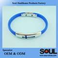 new style Global selling natural silicon bracelet with energy power