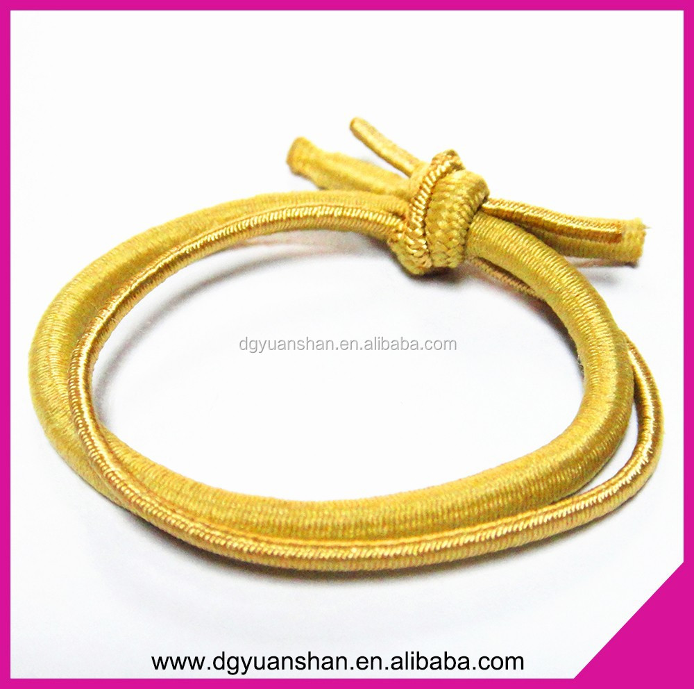 Fashion Knotted elastic hair tie,2 in 1 hair bands