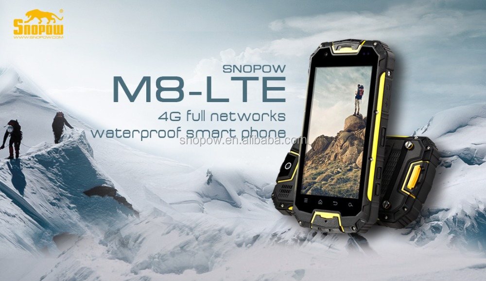 Snopow M8 IP68 4G-LTE full networks android 5.1 OTG NFC RFID wireless charge walkie talkie android non camera phone