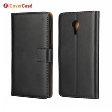Phone Cases for Meizu Blue Charm Note3 Stand Flip Cover Genuine Leather Wallet Case for Meizu M5 Note M3 Note