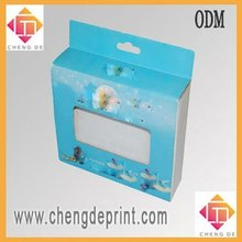 Display cartoon box making with PVC window and hanging hook