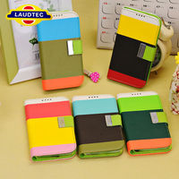 2013 New Arrival Hot Sale Multi Striped PU Leather Wallet Case Cover for Samsung Galaxy S4 I9500 Laudtec