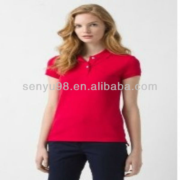 short sleeve senior cotton dot printing polo shirt design for women